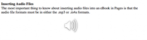 embedded audio file