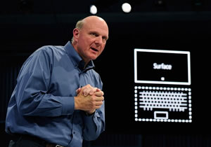 surface tablet & Steve Balmer