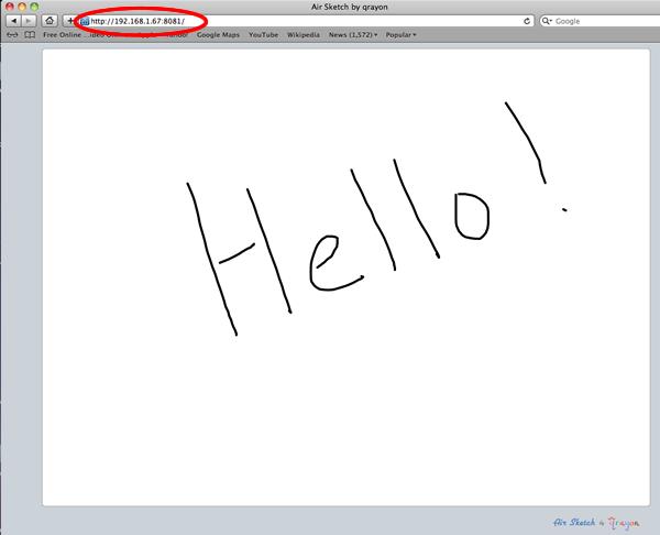 Air Sketch on browser